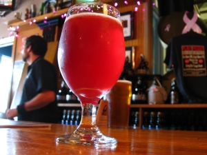glass of framboise